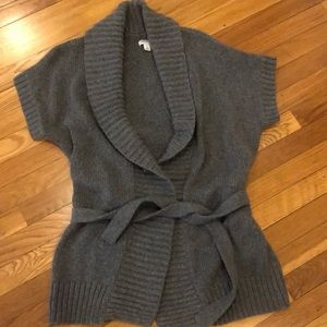 Old Navy Gray wrap sweater w/short sleeves